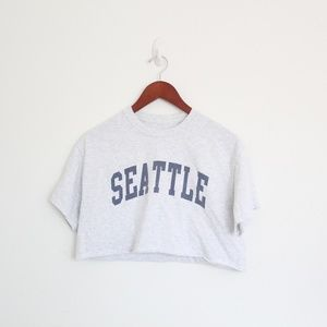 Brandy Melville Seattle Cropped Tee